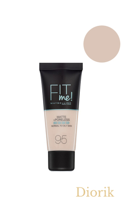 Maybelline Fit Me Matte Poreless Foundation Тональный крем 095