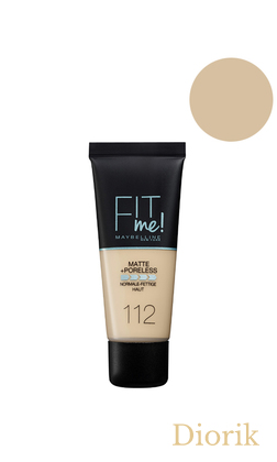 Maybelline Fit Me Matte Poreless Foundation Тональный крем 112