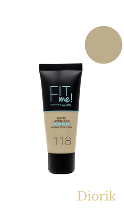 Maybelline Fit Me Matte Poreless Foundation Тональный крем 118