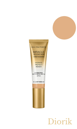 Max Factor Miracle Second Skin Foundation SPF20 Тональна основа 04 light medium