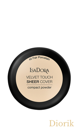 IsaDora Velvet Touch Sheer Cover Пудра Компактная 40 Fair Porcelain