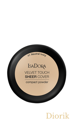 IsaDora Velvet Touch Sheer Cover Пудра Компактная 41 Neutral Ivory